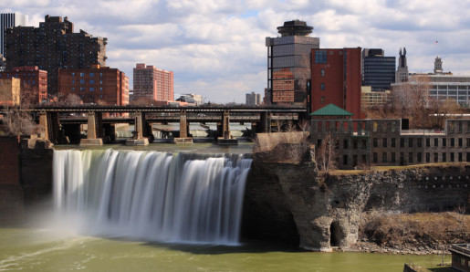 Rochester's High Falls and City-scape