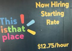 Retail Wage Promotional Sign